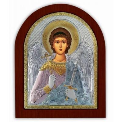 Икона Ангела Хранителя в серебре с эмалью