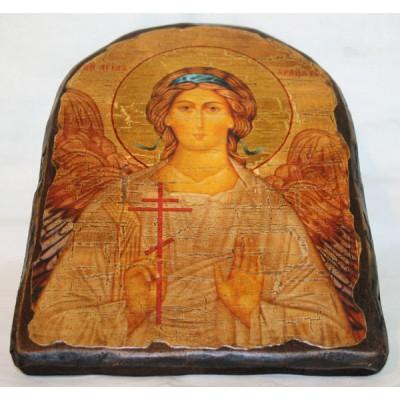 """Икона под старину """"Ангел- Хранитель"""" арка"""