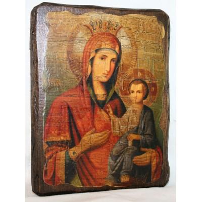 """Икона под старину """"Иверская Пресвятая Богородица"""" большая"""