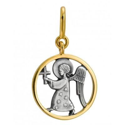 Образ Ангела, серебро 925° с позолотой