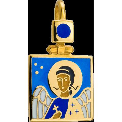 Образ Ангела Хранителя, серебро 925° с позолотой, эмаль