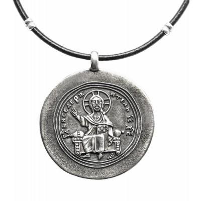 """Образ """"Господь Вседержитель"""", серебро 925°"""