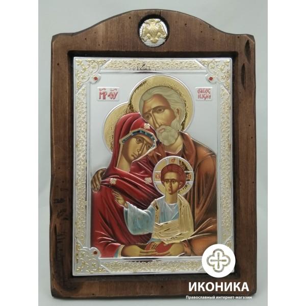 Икона Святое Семейство цветная эмаль  – купить на Ikonika.com.ua. ☎: (044) 384-06-65, (095) 772-43-43. Бесплатная доставка по Киеву ✈ Гарантия качества ☑ Лучшая цена