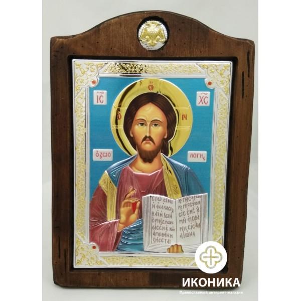 Купить икону Иисус Христос  (цветной лак) – купить на Ikonika.com.ua. ☎: (044) 384-06-65, (095) 772-43-43. Бесплатная доставка по Киеву ✈ Гарантия качества ☑ Лучшая цена